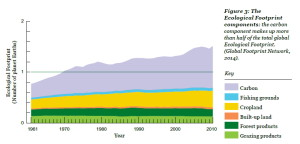 Growing population pressure with unchanged carrying capacity of the Earth