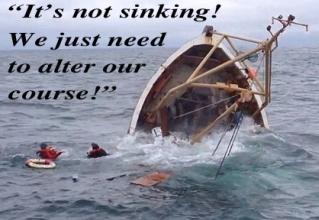 Slowly sinking?