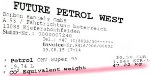Fictitious petrol receipt - illustration: Janos Borbely