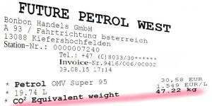 Fictitious petrol receipt - illustration: Janos Borbely